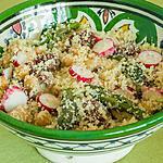 recette Salade de semoule aux asperges, radis et tomates confites