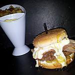 recette Burger au oignon lard et chévre-miel