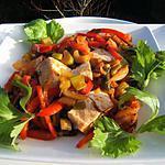 recette Filet de poulet aux poivrons et celeri branche
