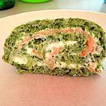 recette Roulé saumon épinards