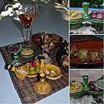 recette MEZZES - Houmous, Keftedes, brochettes agneau, olives, fromage, figuettes...