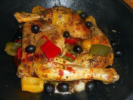 Recette de cuisses de poulet saut es aux poivrons - Cuisse de poulet calories ...