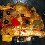 recette Cuisses de poulet sautées aux poivrons