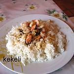 recette Cocktail de fruits de mer au riz