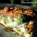 recette Omelette vaporeuse aux brocolis et bacon
