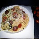 recette Spaghettis aux tomates cerise-chorizo