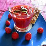 recette soupe de fraises a la menthe