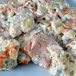 recette Cassolette de saumon au tofu