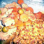 recette filets mignons aux carottes et olives verte.