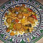 recette Couscous aux boulettes de viande
