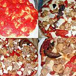 recette PIZZA THON ET LEGUMES GRILLES