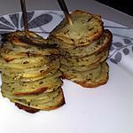 recette Brochettes de tranches de pommes de terre au thym