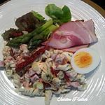 recette Salade de pâtes et Porcheta aux petits légumes