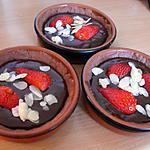 recette TARTELETTES AUX 2 CHOCOLATS ET FRAISES