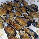 recette Moules gratinées a l'aïoli