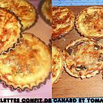 recette TARTELETTES TOMATE ET CONFIT DE CANARD