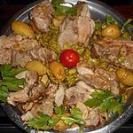 recette Roti de porc aux feves et pommes de terre