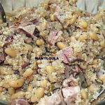 recette Salade de quinoa aux haricots blancs et au gigot d'agneau.
