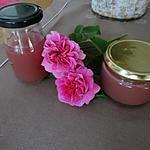 recette GELée  de petales de roses