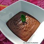 recette Mousse chocolat parfumée avec de la menthe fraîche