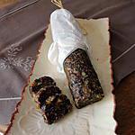 recette SAUCISSON  AUX FRUITS SECS POUR LES FROMAGES ET LE FOIE GRAS