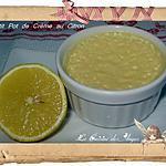 recette Petits Pots de Crème au Citron