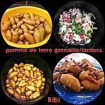 recette Pommes de terre grenailles / lardons / oignons au COOKEO