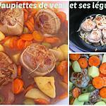 recette PAUPIETTES DE VEAU et ses légumes au COOKEO