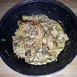 recette Poulet aux champignons sauce lait de coco-moutarde au romarin