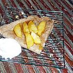 recette Crêpes aux pommes caraélisées