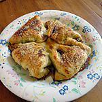 recette CHAUSSON  bacon ,blanc de poulet ,mozzarella