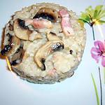 recette Risotto aux champignons et lardons