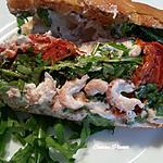 recette Sandwich aux crevettes grises du Nord, roquette et tomate séchée