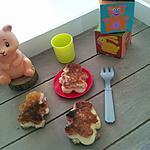 recette Mini croque Monsieur Nounours au jambon-babybel