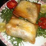 recette Darne de saumon en feuille de brick