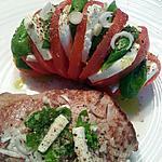 recette Tomate mozzarella basilic et pur boeuf