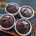 recette Fondants chocolat & nutella