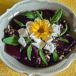recette Salade de lentilles, betteraves nouvelles et fêta