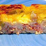 recette Quiche au tofu, saumon et poireaux