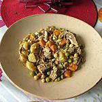 recette sauté de veau  , carottes, épices  jus  d orange