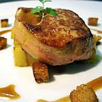 recette Escalope de foie gras sautée aux mangues et sauce pain d'épices...