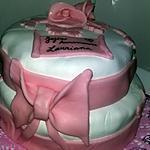 recette Gâteau noeud pate à sucre  anniversaires