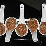 recette Tartare de crevettes et saumon fumé
