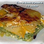 recette gratin de brocolis et pomme de terre à la mimolette