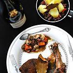 recette Canette à la bourguignonne