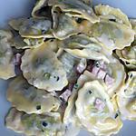 "recette Demi-lune ""épinard-ricotta, sauce gorgonzola"