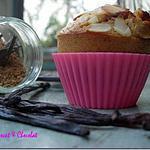 recette ** MUFFINS un brin RUSTIQUES Vanillés aux pépites de cranberries**