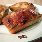 recette petits cakes tout moelleux courgettes et chorizo
