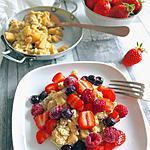 recette Omelette ou oeufs brouillés sucré(e)s pomme cannelle et fruits rouges