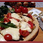 recette Tartine au poulet, tomates et mozza